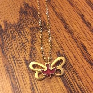 Butterfly 🦋 Bird 🦅 Gold Necklace Vintage Jewelry